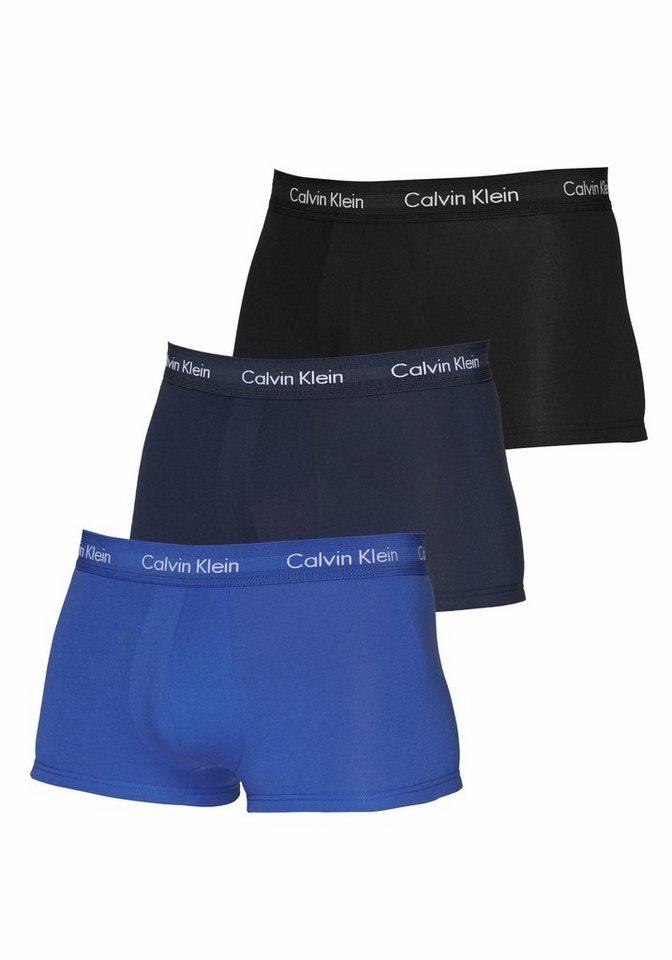 Calvin Klein Hipster (3 Stück) in 1x schwarz 1x blau 1x dunkelblau