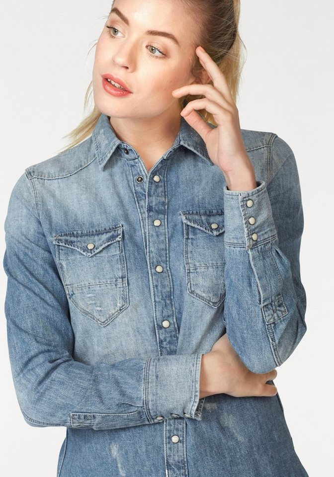 G-Star Jeansbluse »TACOMA« in blue-used