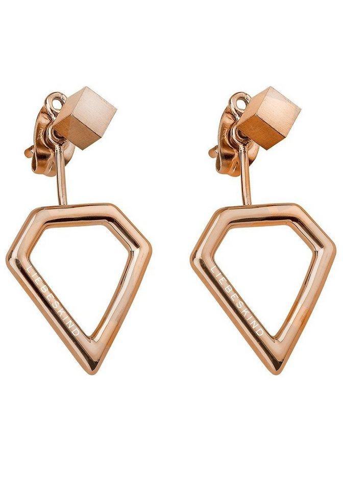 Liebeskind Paar Ohrhänger »LJ-0045-E-16« mit abnehmbaren Einhängern in roségoldfarben