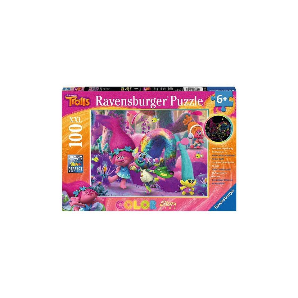 Ravensburger Color Star Line 100 Teile Trolls Leuchtende Haarpracht