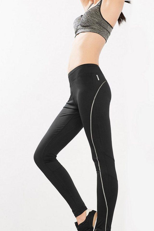 ESPRIT Reflective Sport Tights mit Zippfach in BLACK
