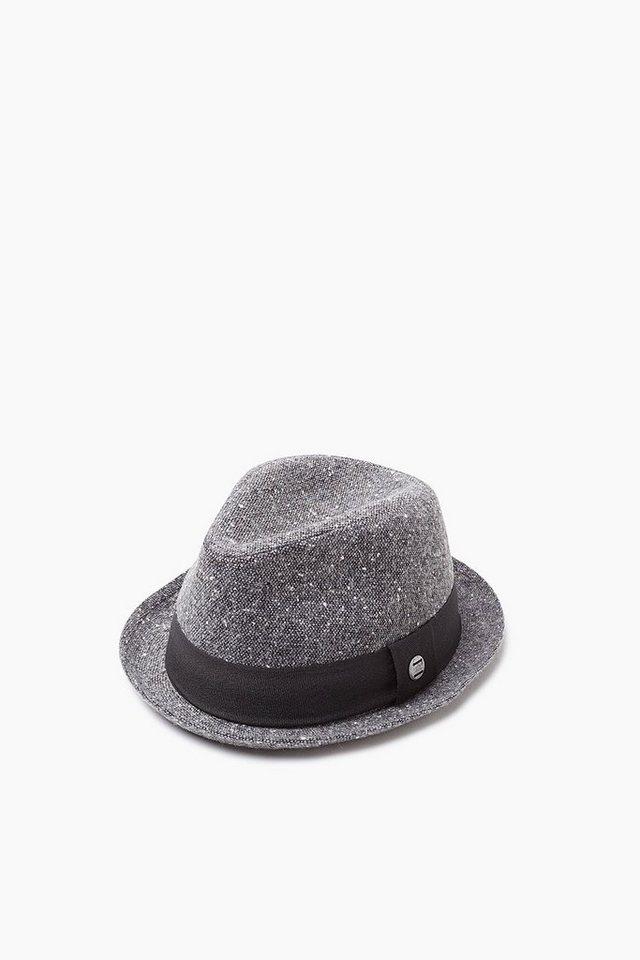 ESPRIT CASUAL Tweed-Hut in Woll-Optik, mit Ripsband in GREY