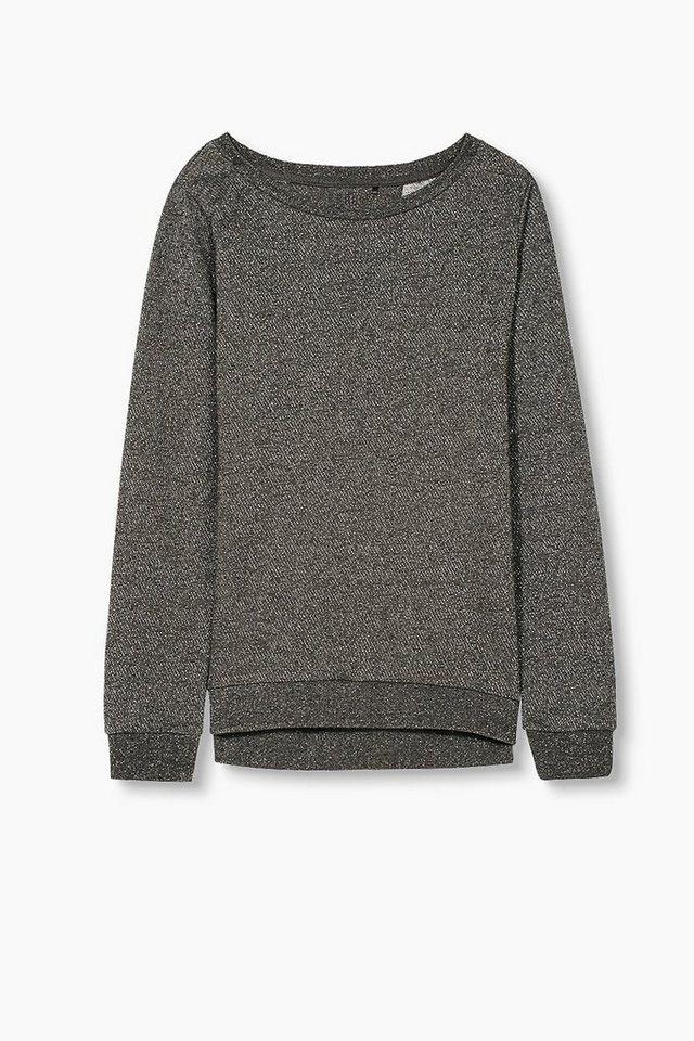 ESPRIT Sport Melange-Sweatshirt mit Glittereffekt in BLACK