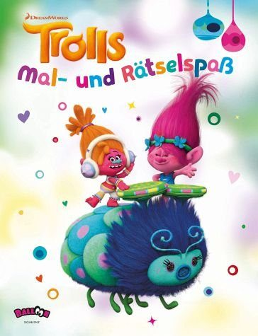 Broschiertes Buch »Trolls - Mal- und Rätselspaß«