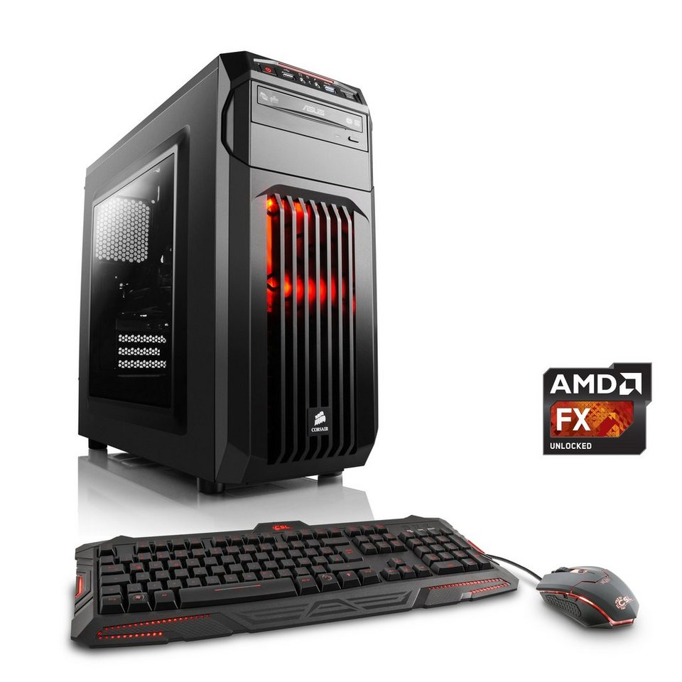 CSL Gaming PC | AMD FX-4300 | Radeon R7 360 | 8 GB RAM | WLAN »Sprint T6824 Windows 10 Home«