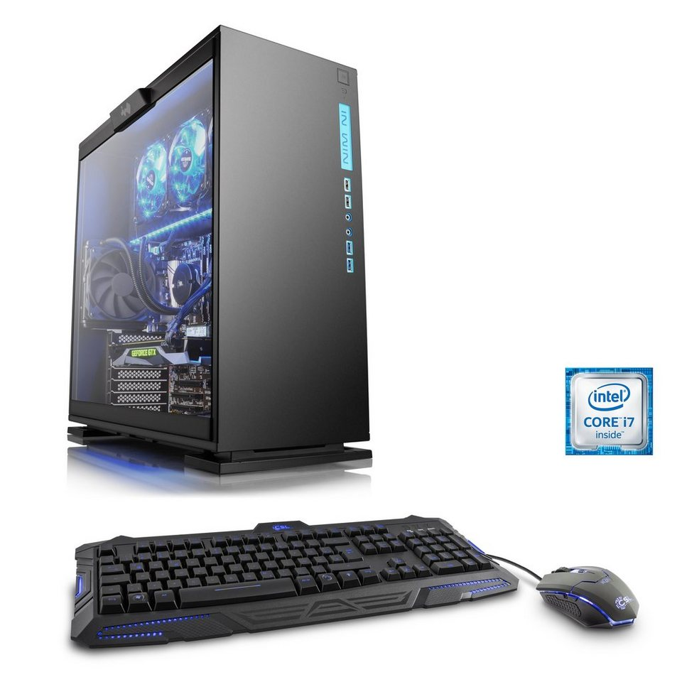 CSL Gaming PC | Core i7-6700K | GeForce GTX 1070 | 16 GB DDR4 | SSD »HydroX T7015 Wasserkühlung«