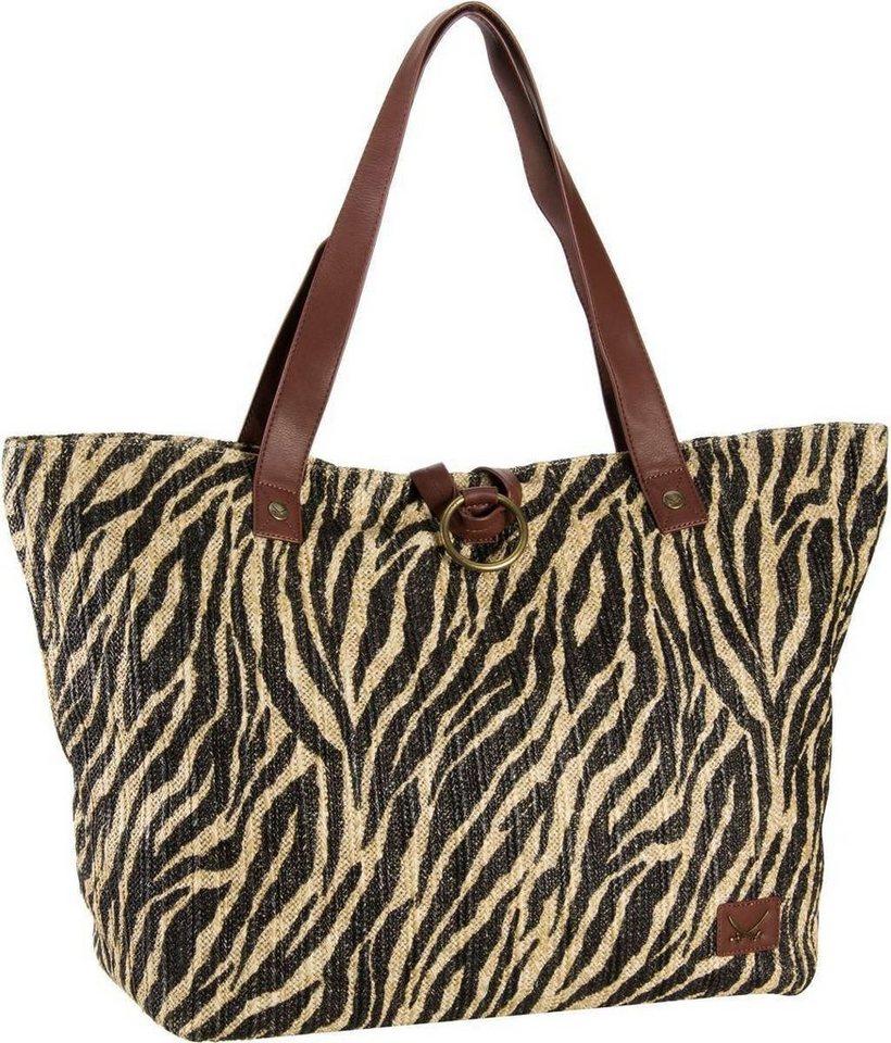 Sansibar Libeccio Beach Bag XL in Zebra