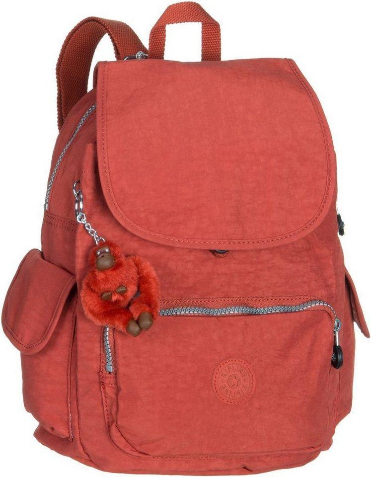 Kipling City Pack S in Red Rust