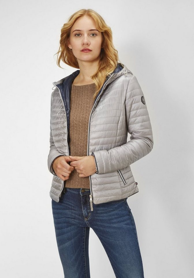 Redpoint Stepp-Jacke mit Kapuze »Paige« in silver