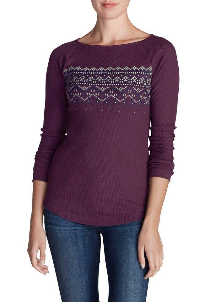 Eddie Bauer Shirt bedruckt in Violett