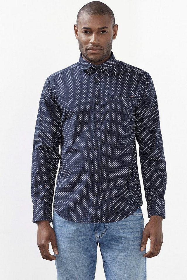ESPRIT CASUAL Print Hemd mit Tasche, 100% Baumwolle in NAVY
