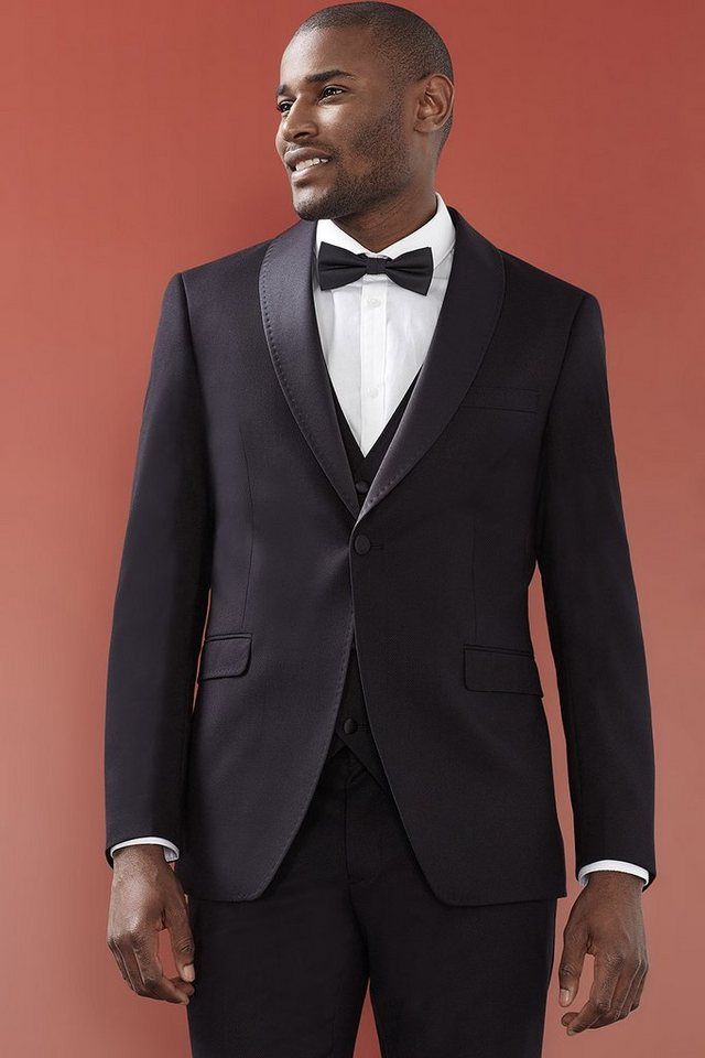 ESPRIT COLLECTION Smoking-Blazer mit Struktur und Satin in BLACK