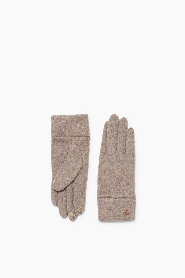 EDC Touchscreen Fleece Handschuhe in TAUPE