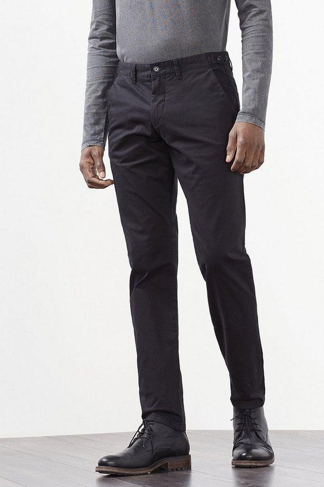 ESPRIT COLLECTION Chino aus kernigem Baumwoll-Stretch in BLACK