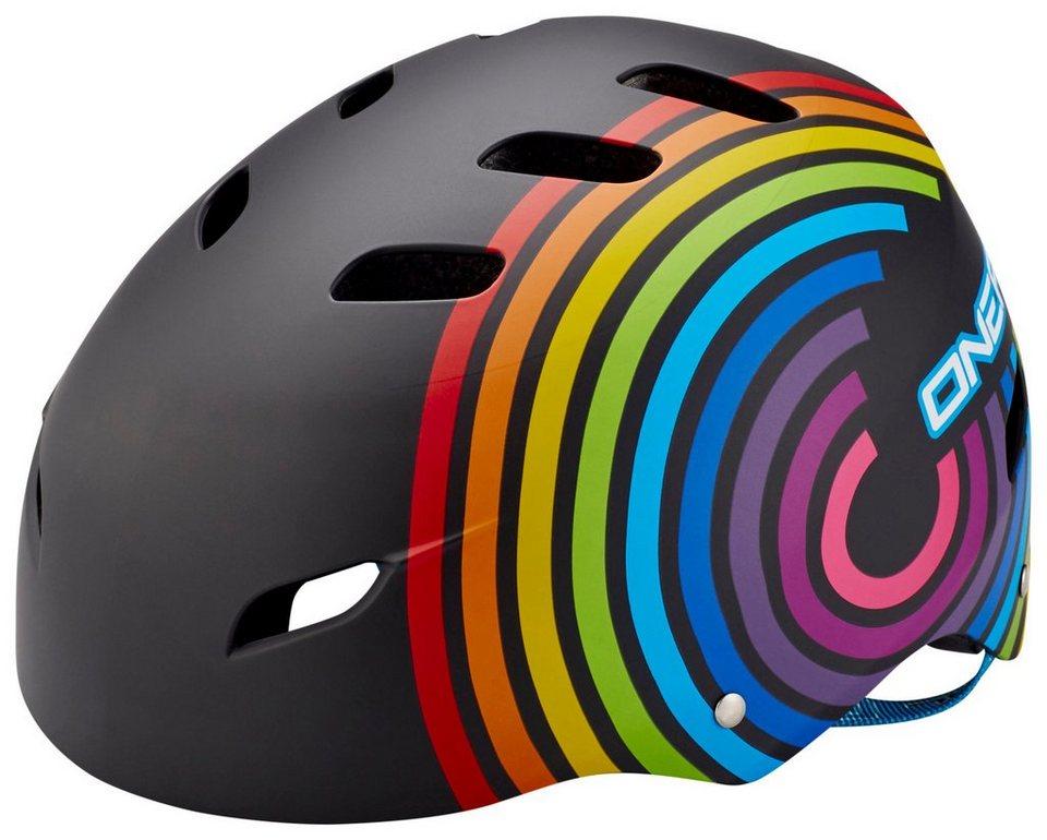 O'NEAL Fahrradhelm »Dirt Lid Helmet Kids Rainbow« in schwarz