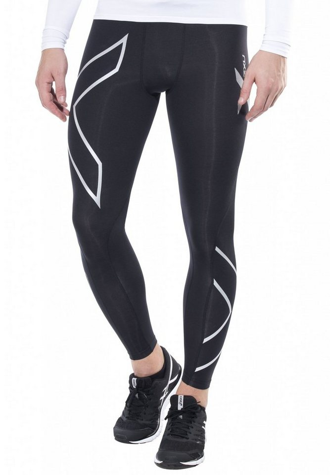 2xU Laufhose »Compression Tights Men« in schwarz