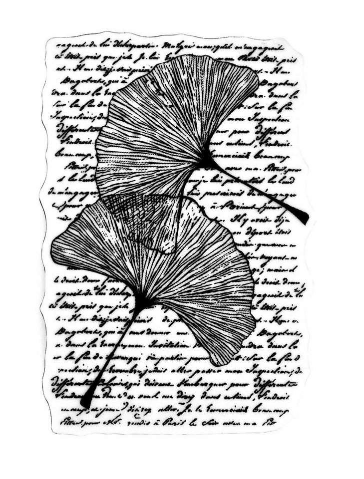 "Stamperia Stempel ""Range of leaves"" 11 cm x 7 cm"