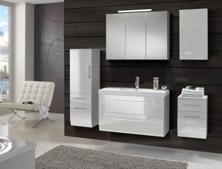 SalesFever Badmöbel-Set, Breite 90 cm (5-tlg.) »Zalona« in weiß