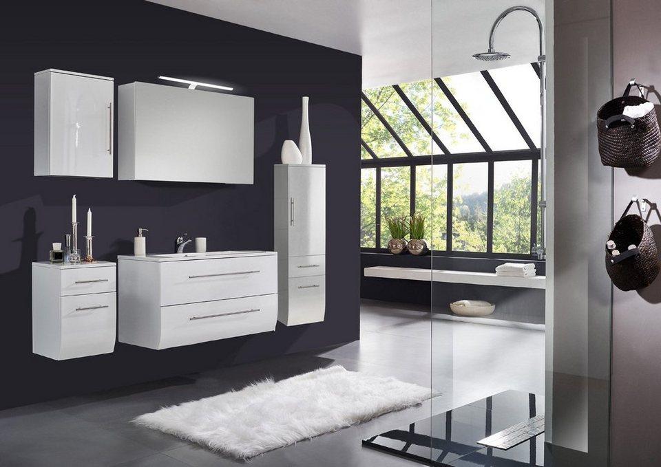 SalesFever Badmöbel-Set, Breite 120 cm (5-tlg.) Deluxe »Nizana« in weiß