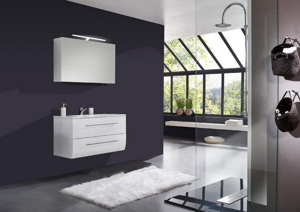 SalesFever Badmöbel-Set, Breite 120 cm (2-tlg.) Deluxe »Nizana« in weiß