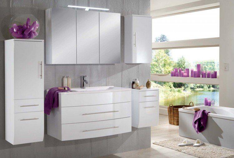 SalesFever Badmöbel-Set, Breite 100 cm (5-tlg.) »Zalona« in weiß