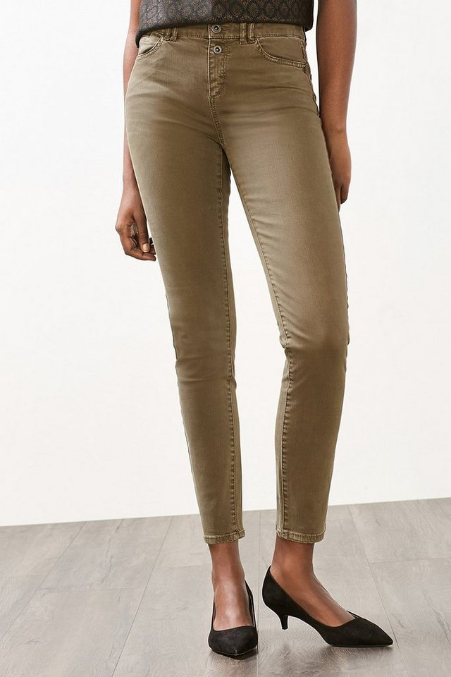 ESPRIT CASUAL Washed Out Stretch Hose in DARK KHAKI
