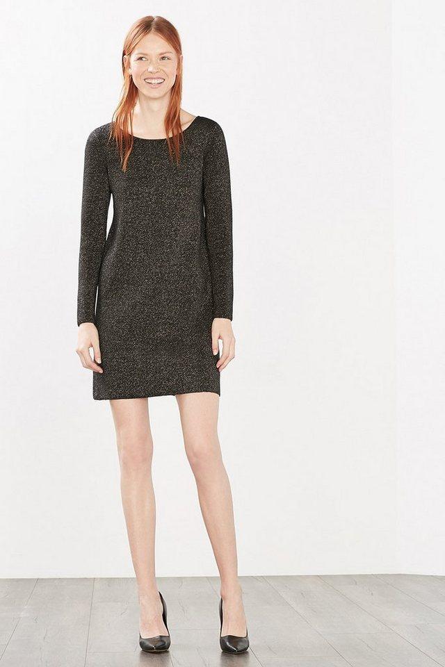 ESPRIT CASUAL Strick-Kleid mit Glanz-Effekt in BLACK