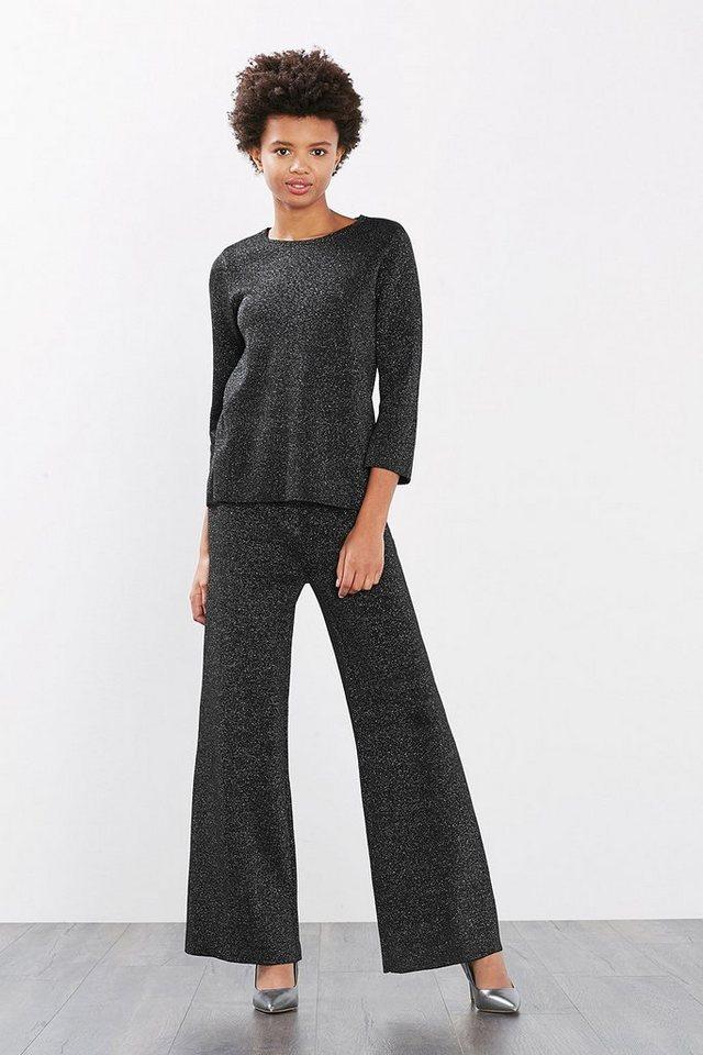 ESPRIT CASUAL Pullover mit Glitzer-Effekt in BLACK