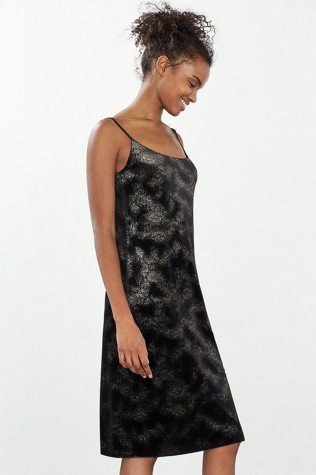 ESPRIT CASUAL Spaghetti-Träger-Kleid aus Samt in BLACK