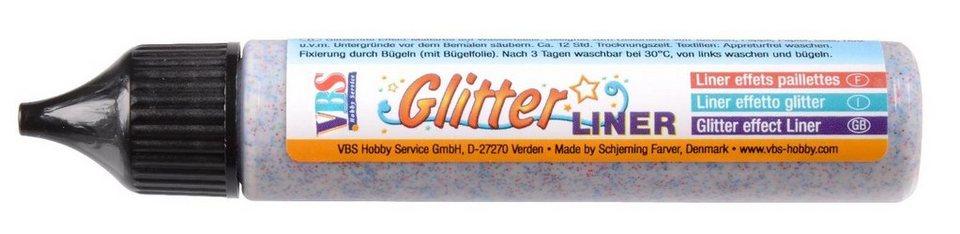 VBS Glitter Liner, 28 ml in Regenbogen-Glitter