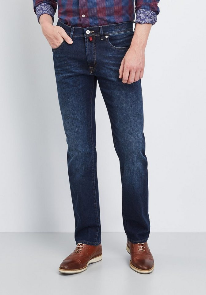 PIERRE CARDIN Jeans »Lyon« in dark-blue denim