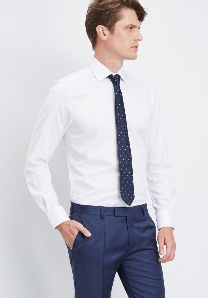 PIERRE CARDIN Hemd strukturiert »Easy Care« in weiß