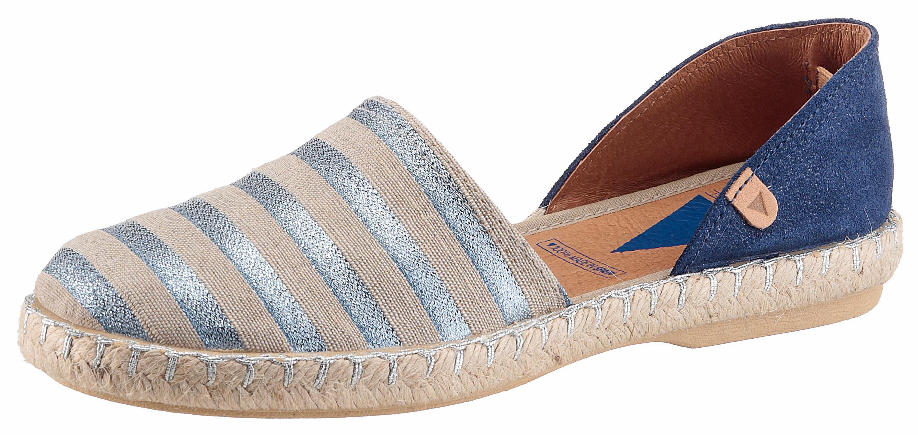 VERBENAS Espadrille, mit schönen Glitzer-Streifen  taupe-blau