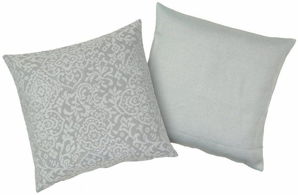 Kissenbezüge, Hagemann, »Ingve«, mit modernem Muster in grau