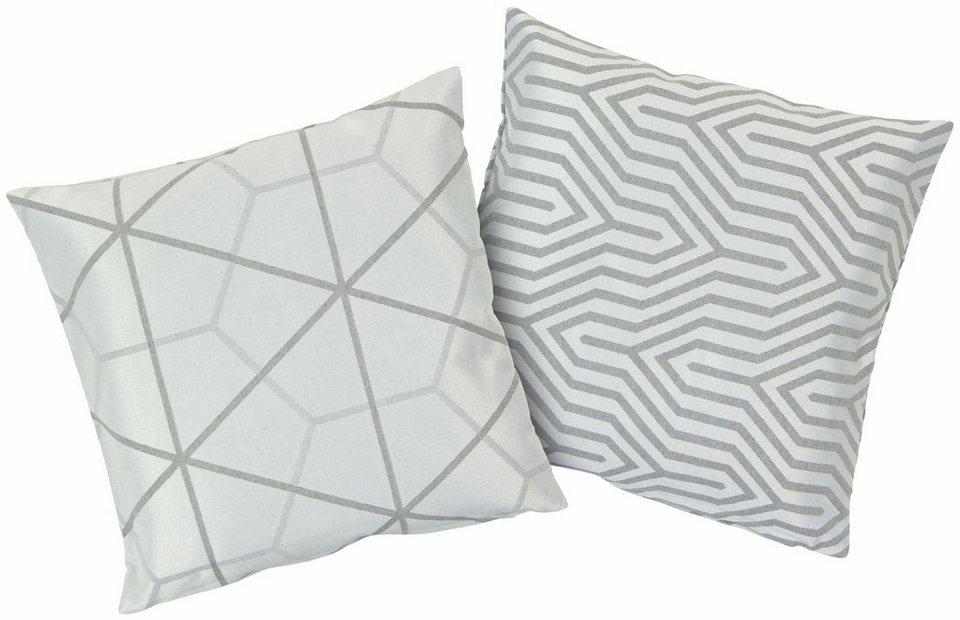 Kissenbezüge, Hagemann, »Azra«, mit modernem Design in grau