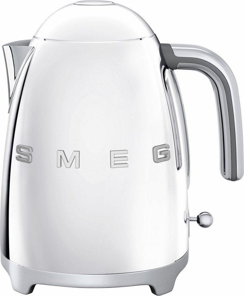Smeg Wasserkocher KLF01SSEU, 1,7 Liter, 2400 Watt, chrom in chrom