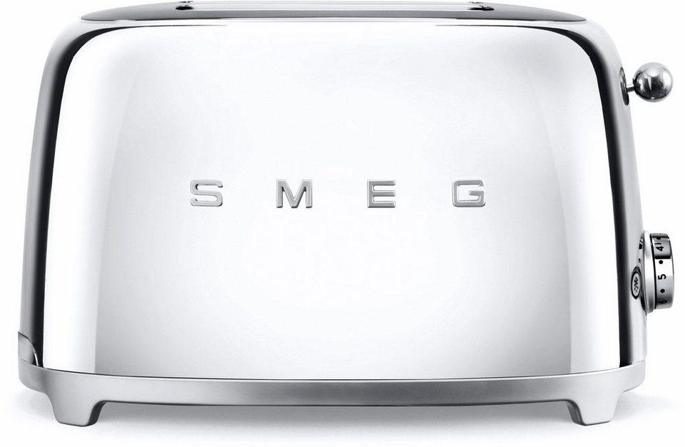 Smeg 2-Scheiben-Toaster TSF01SSEU, 950 Watt, chrom in chrom