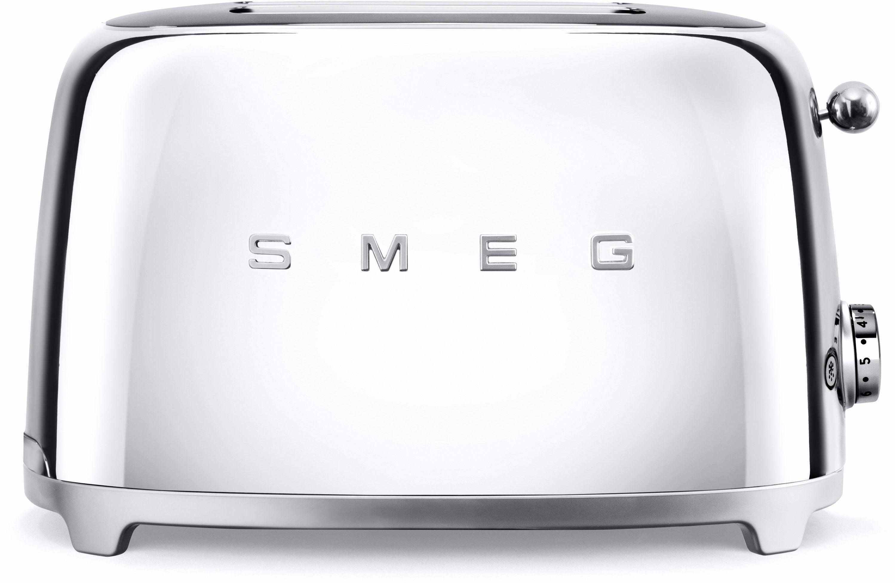 Smeg 2-Scheiben-Toaster TSF01SSEU, 950 Watt, chrom