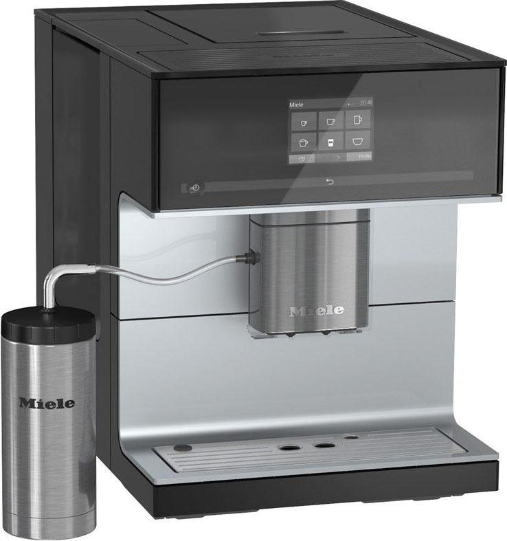 miele kaffeevollautomat cm 7300 2 2l tank kegelmahlwerk inkl edelstahl thermo milchbeh lter. Black Bedroom Furniture Sets. Home Design Ideas