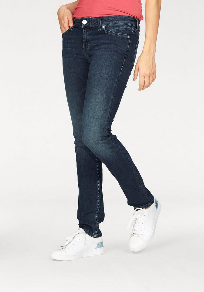 Bogner Jeans Straight-Jeans »So Slim dark scratched used« in mittelblau