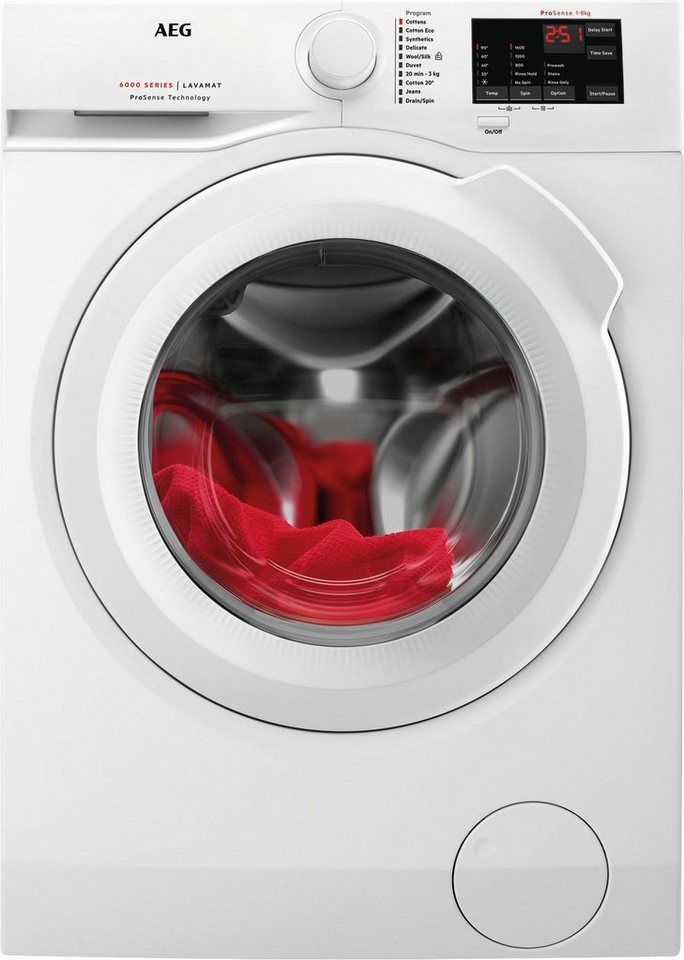 AEG Waschmaschine LAVAMAT L6FB54680, A+++, 8 kg, 1600 U/Min in weiß