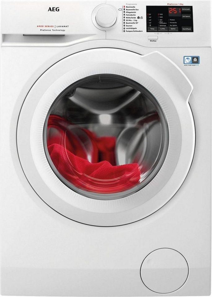 AEG Waschmaschine LAVAMAT L6FB54480, A+++, 8 kg, 1400 U/Min in weiß