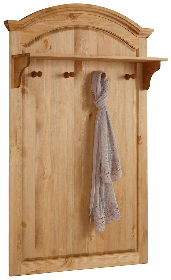 Home affaire garderobenpaneel ivala aus massiver kiefer for Garderobe 140 cm breit