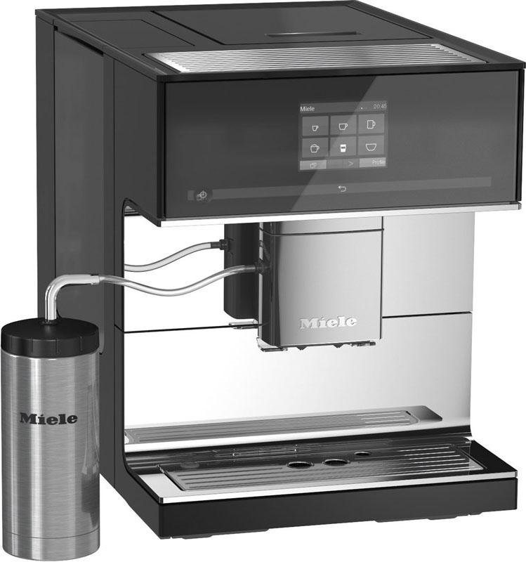 Miele Stand-Kaffeevollautomat CM 7500, inkl. Edelstahl-Thermo-Milchbehälter in Obsidianschwarz