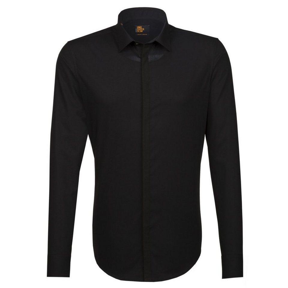 Seidensticker Businesshemd »UNO SUPER SLIM« in schwarz