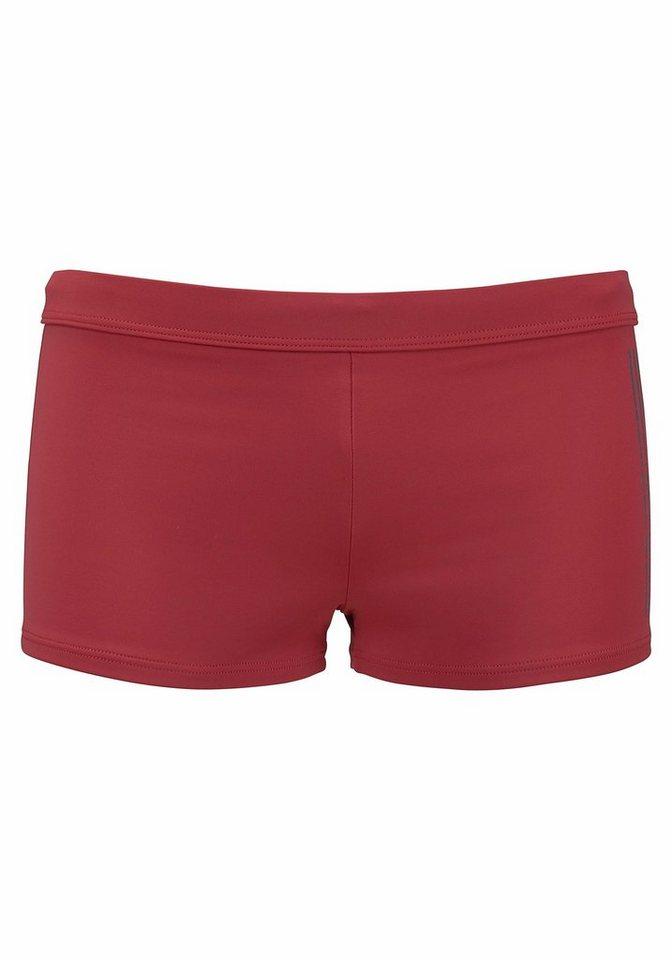 s.Oliver Beachwear Boxer-Badehose, mit Logoschriftzug im coolen Used-Look | Bekleidung > Bademode > Boxerbadehosen | Rot | s.Oliver Beachwear