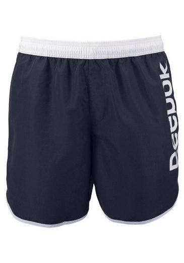 Reebok Bathing Shorts With Side Logo Lettering