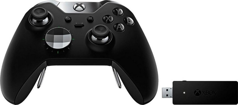 xbox one elite controller wireless adapter f r windows. Black Bedroom Furniture Sets. Home Design Ideas