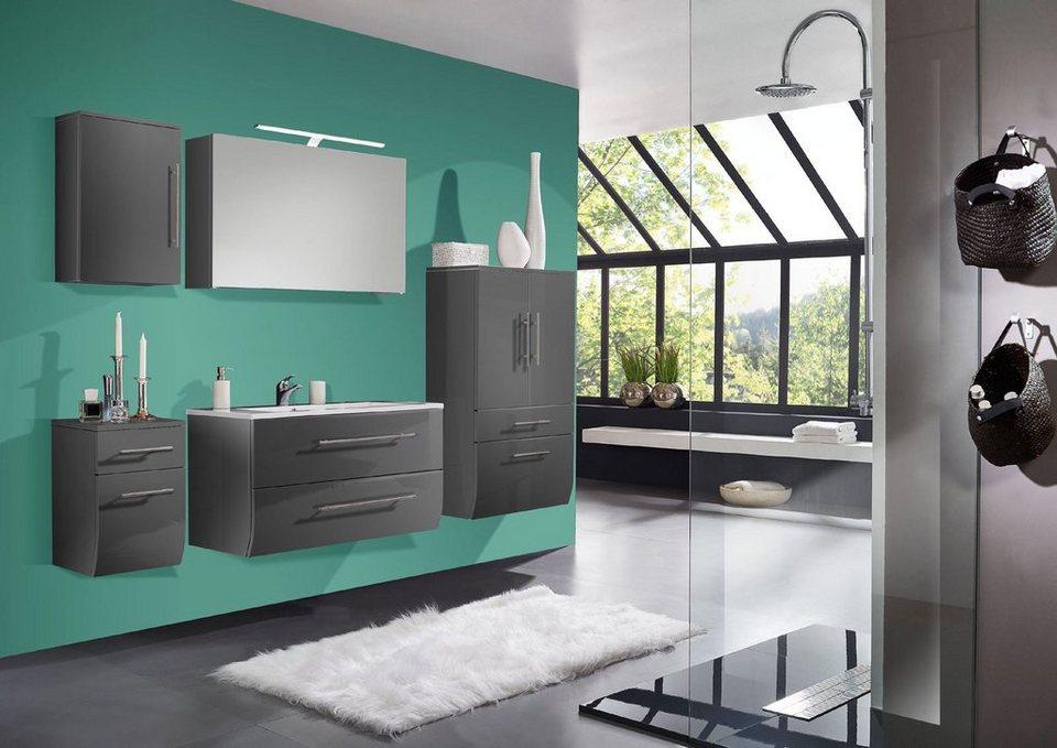 salesfever badm bel set breite 70 cm 5tlg deluxe breiter hochschrank nizana online kaufen. Black Bedroom Furniture Sets. Home Design Ideas