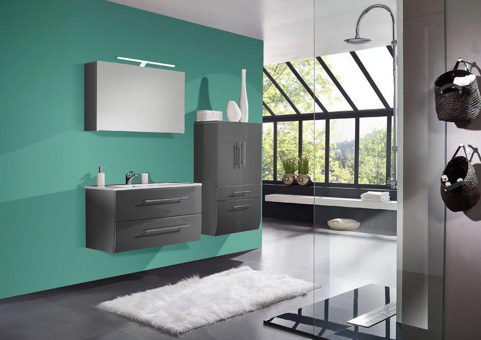 salesfever badm bel set breite 70 cm 3 tlg deluxe mit breitem hochschra nizana online. Black Bedroom Furniture Sets. Home Design Ideas